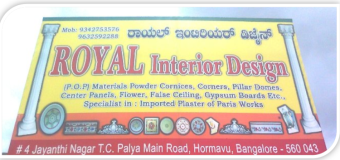 Royal Interior Design (POP, Gypsum Boards, etc.)
