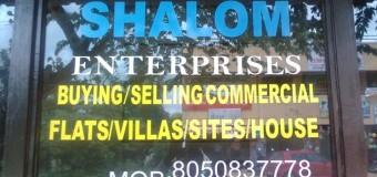 SHALOM ENTERPRISES (Buying / Selling Commercial Flats / Villas / Sites / House)