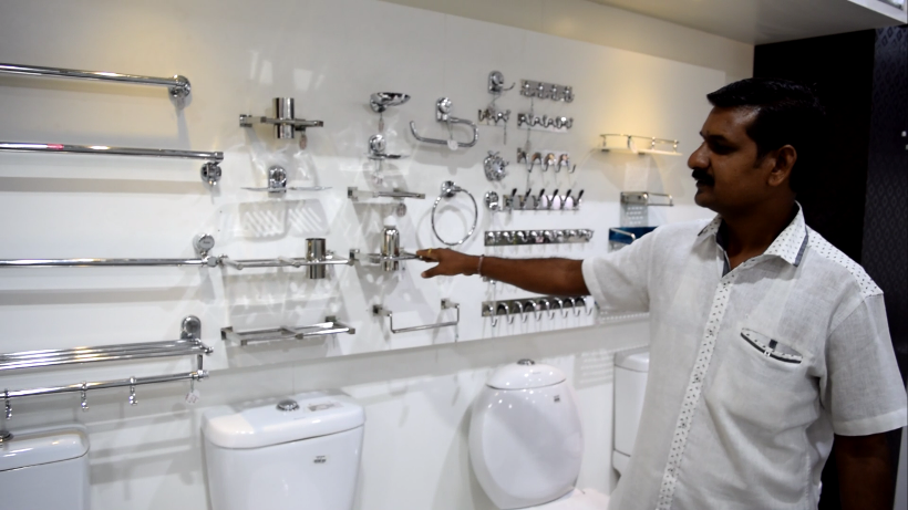 bathroom fittings wholesaler in t c palya