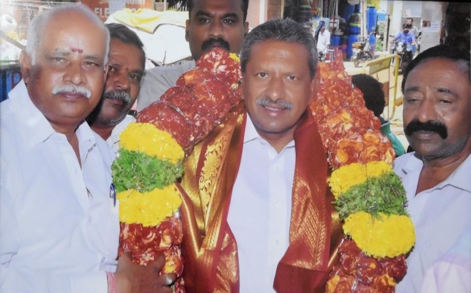 Astrologer Sadanandam M with Basavaraj MLA