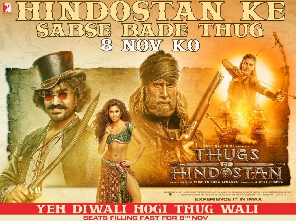 Thugs of Hindostan at Cinemas and Theatres - Public Talk - Public Ratings - Public Reaction - Amitabh Bachchan - Aamir Khan - Katrina Kaif - Fatima - Social Media Talk-Thugs of Hindostan Movie Details