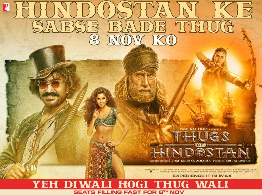 Thugs of Hindostan at Cinemas and Theatres - Public Talk - Public Ratings - Public Reaction - Amitabh Bachchan - Aamir Khan - Katrina Kaif - Fatima - Social Media Talk-Thugs of Hindostan Movie Details